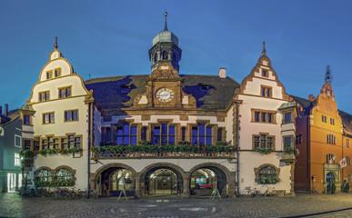 Freiburg Rathaus Abend