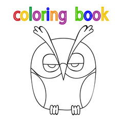 book, owl coloring book, cute