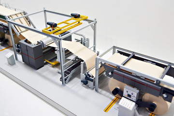 Miniature model conveyor of packaging paper