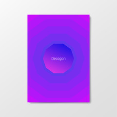 Minimal poster with smooth blend gradient background and simple geometric shape. Clean and beautiful colors. Album format, A4, A3, A2.