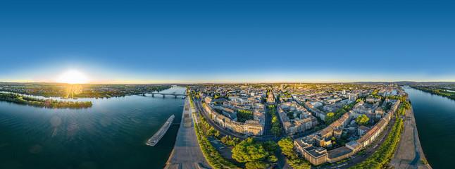 Luftaufnahme Mainz am Rhein 360° VR Panorama