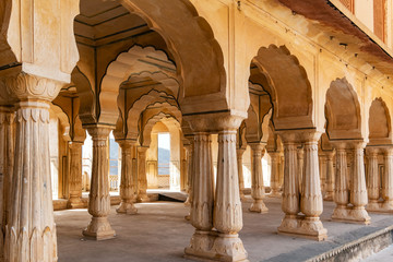 Amer Fort in Jaipur, Rajasthan, India. UNESCO world heritage.
