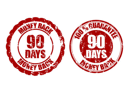 Money back guarantee 90 days rubber stamp inprint