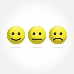 Smile Emoticon Vector Template Design Illustration