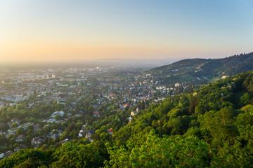 Germany, Houses and churches of Freiburg im Breisgau