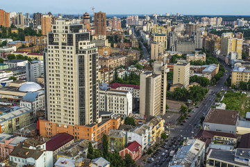 Panorama of kyiv city center, Kiev, Ukraine.