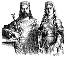 Barbarian Royal Couple - 6th century