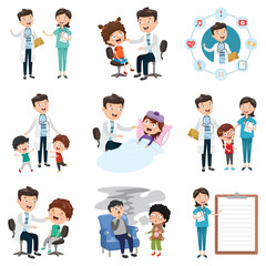 Vector Illustration  Set Of Medical And Healthcare