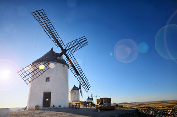 Consuegra is a litle town in the Spanish region of Castilla-La Mancha, famous due to its historical windmills, Caballero del verdegaban is the windmill's name