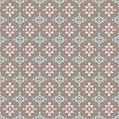Native american, indian, aztec, geometric seamless pattern.