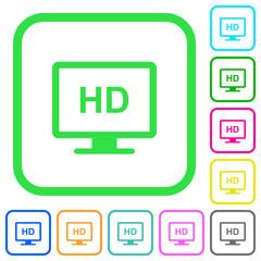 HD display vivid colored flat icons