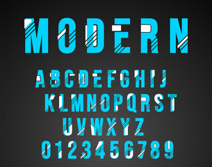 Alphabet font modern design