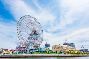 横浜みなとみらい Ferris wheel  in Minatomirai, Yokohama