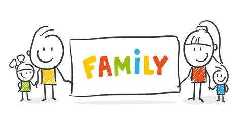 Strichfiguren / Strichmännchen: Family. (Nr. 267)