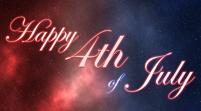 4th of July outerspace galaxy red white and blue