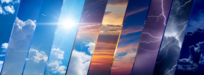 Fototapeta Weather forecast background, climate change concept