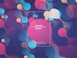 Geometric background. Color gradient shapes. Vector illustration.