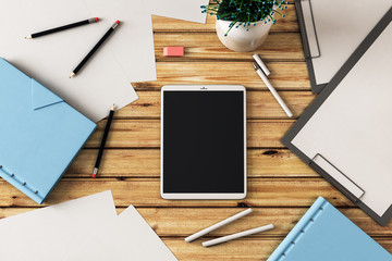 blank black tablet screen