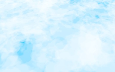 Background of abstract white color smoke isolated on blue color background. The wall of white fog. 3D illustration