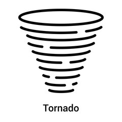 Tornado icon vector sign and symbol isolated on white background, Tornado logo concept