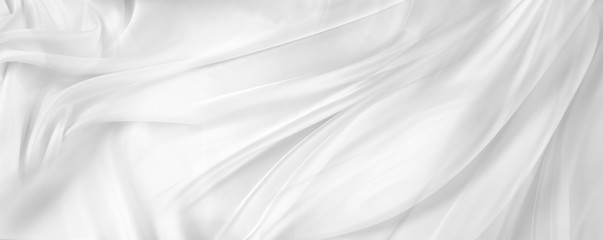 White silk fabric
