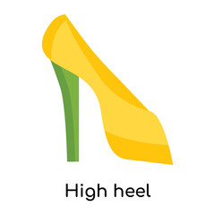 High heel icon vector sign and symbol isolated on white background, High heel logo concept