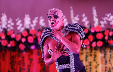 A contestant performs in Miss Gay Nicaragua 2018 pageant in Managua