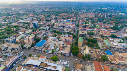aerial view of Moshi town