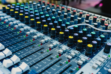 Audio mixing console working