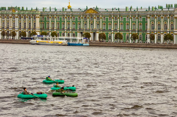 Floating on the Neva