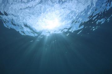 Abstract blue underwater background