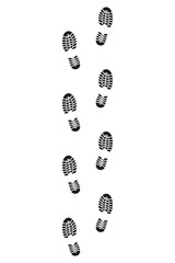 Shoe print. Vector. Isolated.