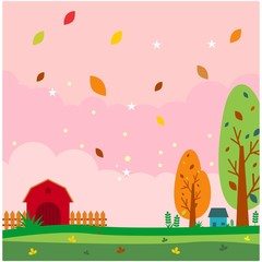 barnyard autumn scenery landscape background