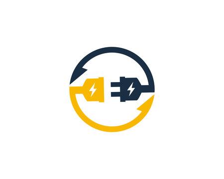 Electric Transfer Logo Icon Design Element