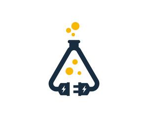 Electric Science Logo Icon Design Element