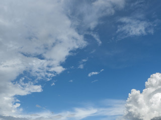 White clouds, Blue sky / White clouds  blue skies in the rainy season