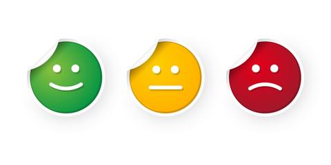 smiley icon stickers set
