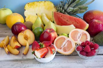 Varied fresh fruit