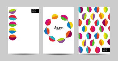 Autumn floral template set