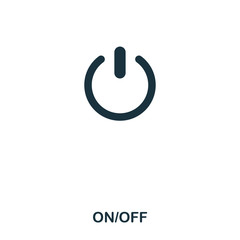 On Off icon. Line style icon design. UI. Illustration of on off icon. Pictogram isolated on white. Ready to use in web design, apps, software, print.