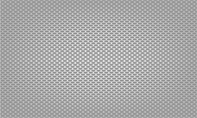 Vector illustration of The gray grille facing the radiator. This part is front of the car body.