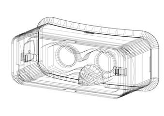 Virtual reality headset Architect Blueprint - isolated