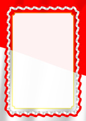 Frame and border of ribbon with Indonesia flag, template elements for your certificate and diploma. Vector