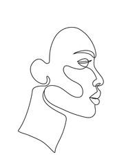 woman face line art