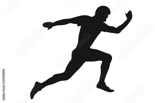 """Silueta De Una Persona Corriendo."" Stock Image And"