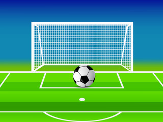 Illustration of background for Football Tournament