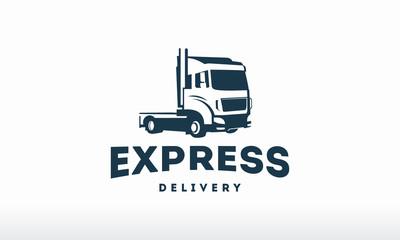 Truck logo designs template vector, cargo logo, delivery, Logistic
