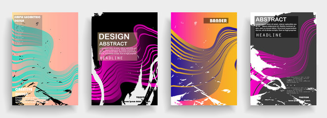 Modern abstract covers set. Futuristic design. Eps10 vector.