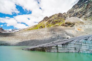 Alta Valmalenco (IT) - Vista aerea del ghiacciaio di Fellaria - luglio 2018