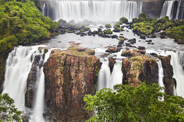 Wall Mural - Iguassu Falls, view from Brazilian side